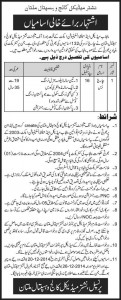 Charge Nurse Jobs in Nishtar Medical College & Hospital Multan