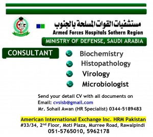 Consultant Biochemistry Jobs in Ministry of Defense Saudi Arabia