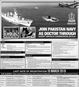 Join Pakistan Navy As Doctor Through Short Service Commision