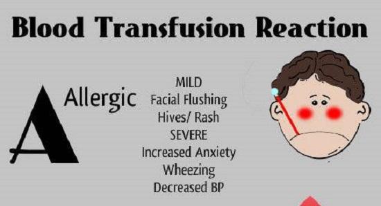 Blood transfusion reaction case study