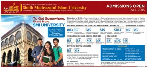 Sindh Madressatul Islam University BS Media Studies & Social Sciences Admission 2015