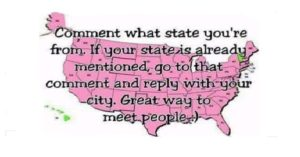 LIVE POLL: COMMENT WHAT STATE YOU'RE FROM?