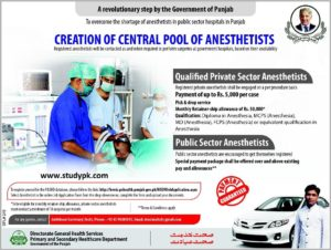 Anesthetists Jobs in P&S Healthcare Department Punjab