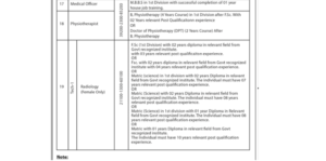 Physiotherapist Position Vacant in Tertiary Care Hospital