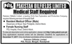 Pakistan Oilfields Medical Staff Required