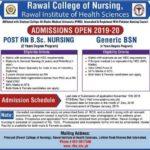 Rawal College Of Nursing Generic BSN Admission 2018