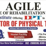 Agile Institute of Rehabilitation Sciences (AIRS) Bahawalpur Admission Notice 2014-2015 for Doctor of Physical Therapy (DPT)