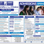 SZABIST Islamabad Admission BS/MS/BBA/MBA Spring 2017