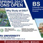 DHA Suffa University Karachi Admission Spring 2017