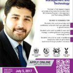 ITU Lahore BS Management & Technology Admission Notice 2017