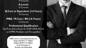 ICMA Lahore CMA Program Leading to CEO/CFO Admission 2017