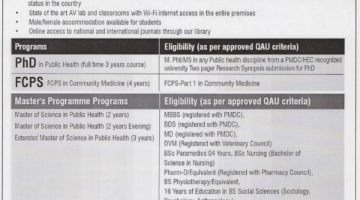 Health Services Academy Admission Announcement 2018