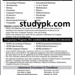 Kinnaird College For Women Spring Admission 2018