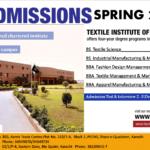 Textile Institute of Pakistan Admission Open Spring 2018