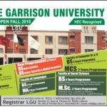 Lahore Garrison University BS MS MBA Admission Fall 2018