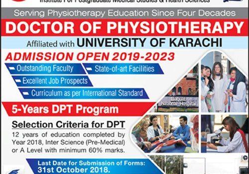 Liaquat National Hospital DPT Admissions 2019