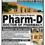 Southern Punjab Institute of Health Sciences Pharm-D Admission 2018