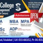 Ali Fatima College FSD BS MBA BBA Admission 2018