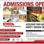 Barrett Hodgson University Admissions Spring 2019