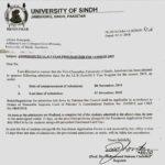 University of Sindh Jamshoro LLB 5 Years Degree Program Admission 2019