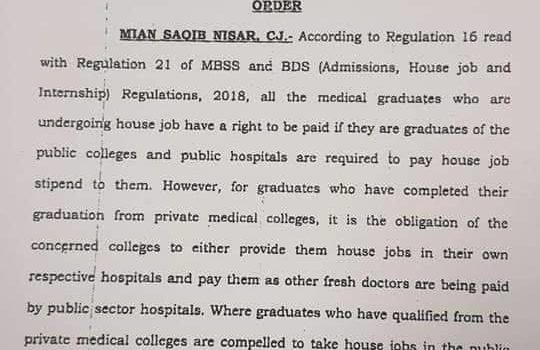 SC Orders Private Medical Colleges to Pay Medical Graduates Equal to Govt Hospitals