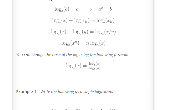 A Level Maths - Logarithm Rules You Needs to Know
