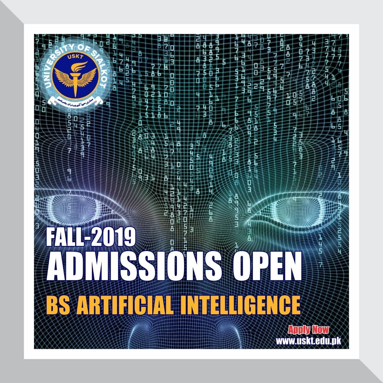 University of Sialkot Admission Fall 2019 BS Artificial Intelligence