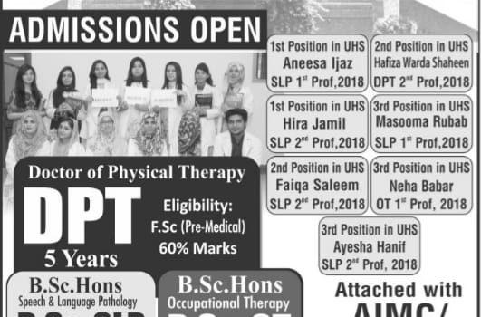 PSRD College of Rehabilitation Sciences DPT Admission open now