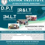 Zohra Institute Of Health Sciences DPT Admissions 2019