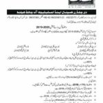 School of Allied Health Sciences Children Hospital Lahore Admission Notice 2019
