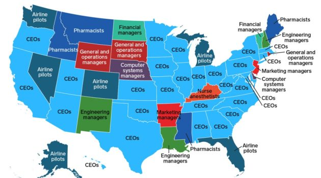 Highest-Paying Job in Every State, Excluding Doctors
