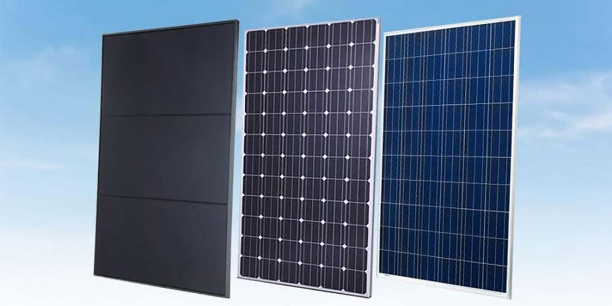 What are the 3 types of solar panels in Pakistan