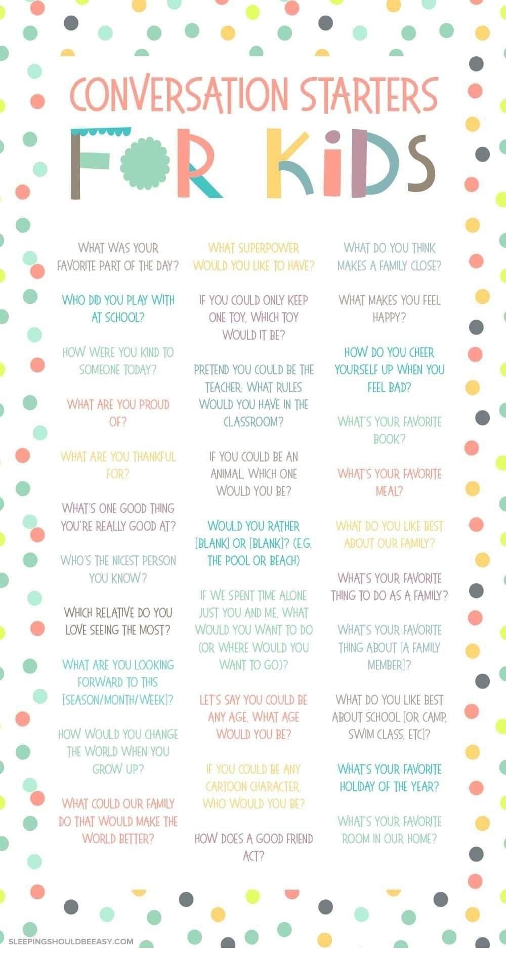 Basic Conversation Starter for Kids