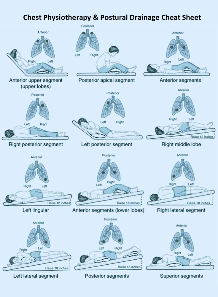 Chest Physiotherapy & Postural Drainage Positions